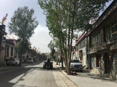 Une rue paisible à Gyantse