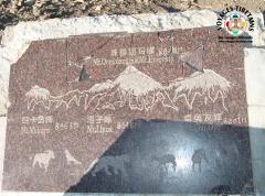 Vue sur les plus hauts sommets du monde depuis le col