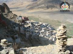 Le Shegar Dzong ou monastère de Chode vu d'en haut