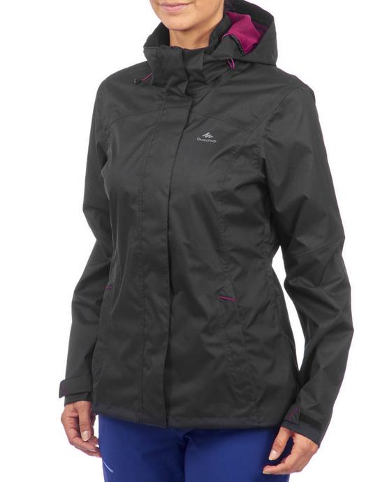Veste de pluie impermeable pour la randonnee en montagne MH100 Femme chine