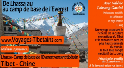 Monastères de Lhasa jusqu'au Camp de base de l'Everest versant tibétain - Tibet Central - 14 jours - Selon vos dates / Privatisation possible